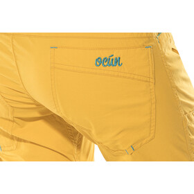 Ocun Noya Shortsit Naiset, yellow/blue